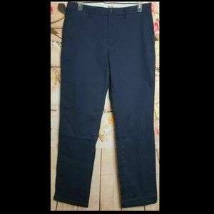Men's 35x34 Navy Straight Fit Stretch Chino Pant